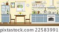 Illustration of a classic kitchen 22583991