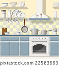 Illustrtion of a classic kitchen 22583993