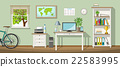 Illustration of a classic homeoffice 22583995