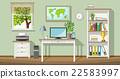 Illustration of a classic homeoffice 22583997