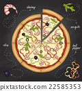 Pizza with shrimp color picture 22585353