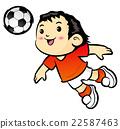 Football players Mascot is heading. 22587463