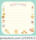 Sweet menu blue template 22595915