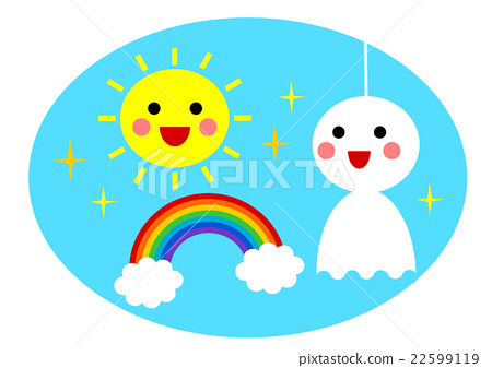 sun, rainbow, illustration 22599119