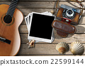 Guitar - Instant Photos - Camera and Seashells 22599144