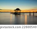 Wooden pier between sunset in Phuket, Thailand. 22600540