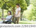 Senior Wheelchair Walking with a Caregiver 22601940