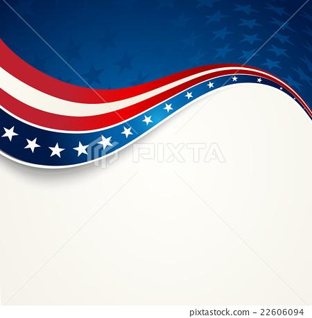 Patriotic wave background  USA flag  Independence Day banner