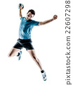 man handball player isolated 22607298