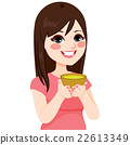 Woman Having Green Tea 22613349