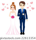Bride And Groom Standing 22613354