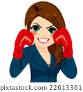 Businesswoman Fighter Gloves 22613361
