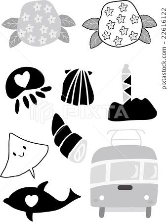 Shonan set illustration black and white 22616122
