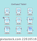 Confused cartoon digital tablet pc 22616516