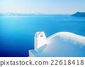 White building in Santorini island, Oia, Greece 22618418