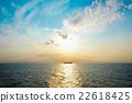 Dramatic morning sunrise on the Aegean sea 22618425