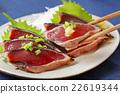 bonito, mince, seared bonito slices 22619344