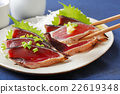 bonito, mince, seared bonito slices 22619348