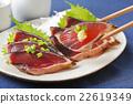 bonito, mince, seared bonito slices 22619349