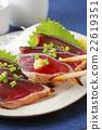 bonito, mince, seared bonito slices 22619351