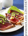 bonito, mince, seared bonito slices 22619387