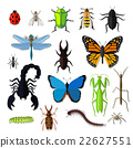 Set of Various Insects Design Flat 22627551