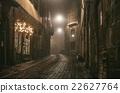 Old European narrow empty street of medieval town 22627764