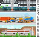 Rail Transport Horizontal Flat Banners 22630196