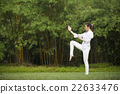Chinese woman doing Tai Chi outdoors. 22633476
