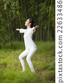 Chinese woman doing Tai Chi outdoors. 22633486