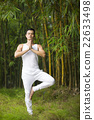 Chinese man doing Tai Chi outdoors. 22633498
