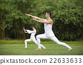 Chinese couple practicing Tai Chi outdoors. 22633633