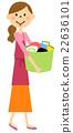 围裙的女人洗 22636101