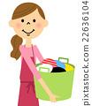 围裙的女人洗 22636104