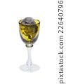 Cute chinchilla baby in glass 22640796