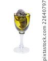 Cute chinchilla baby in glass 22640797