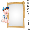 Thumbs up cartoon man sign 22642193