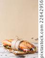 Vegetarian baguette sandwich 22642956