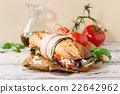 Vegetarian baguette sandwich 22642962