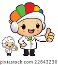 Clinical Dietitian Mascot the hand best gesture. 22643230
