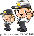 Friendly Woman Police Officer Character 22643446