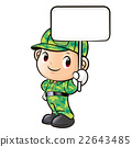 The character of a soldier holding signs 22643485