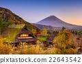 Mt. Fuji and villages. 22643542