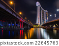 singapore waterfront illuminated 22645763