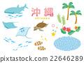 whale shark, vector, palm-tree 22646289