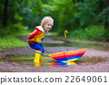 rain, umbrella, kids 22649061