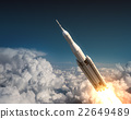 Space Launch System Flying In The Clouds 22649489