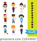 Vector set of cute cartoon kids in different 22649687