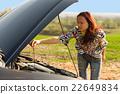 vehicle, women, breakdown 22649834