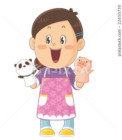 由填充動物/婆婆的托兒所滑稽可愛的插圖的插圖| Masayoshi Iwata 22650750